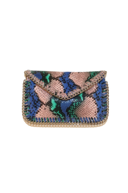 SNAKE CROSSBODY W/CHAIN EDGE (SRB2-6022)