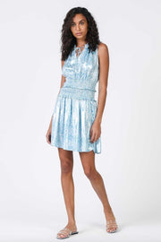 SLVLS SMOCKED MINI DRESS