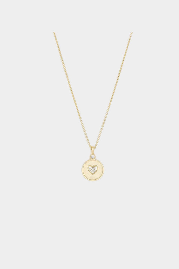 MADISON HEART COIN NECKLACE