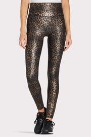 FAUX LEATHER LEOPARD LEGGINGS