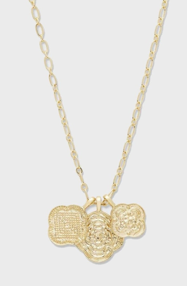 MAYA MIXED COIN NECKLACE- GOLD