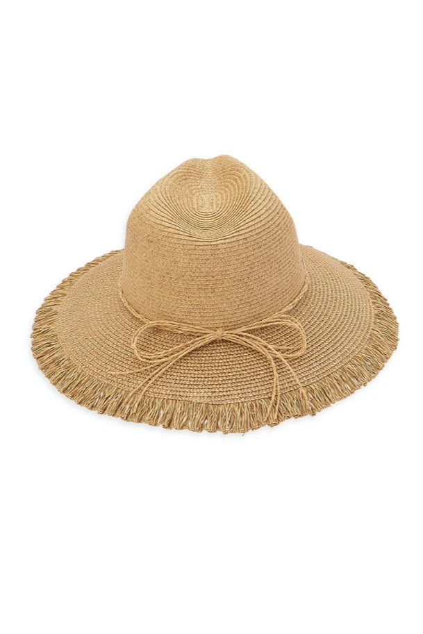 SAFARI HAT W/FRINGE TRIM