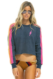 BOLT CROPPED CREW SWEATSHIRT