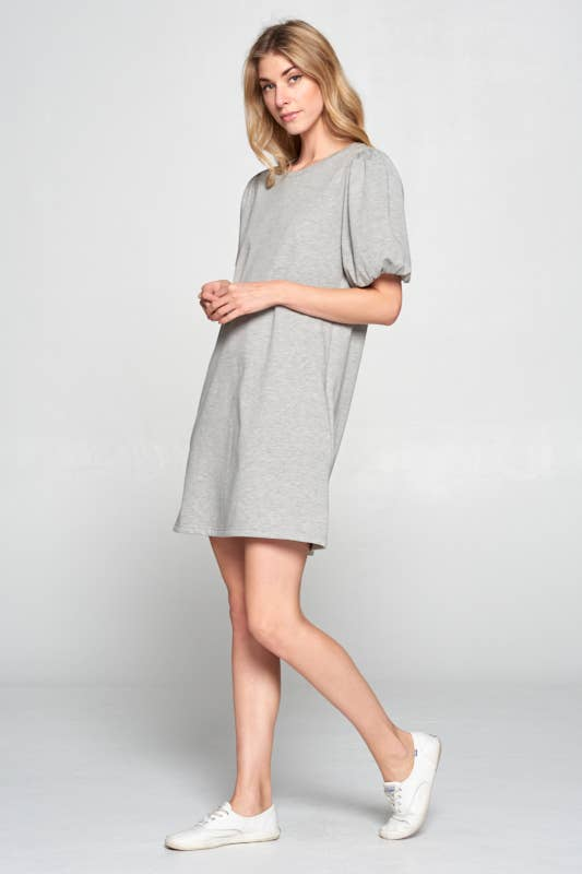 PUFF SLV DRESS