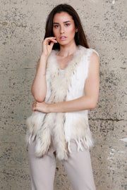 RABBIT/RACCOON FUR VEST (4545)