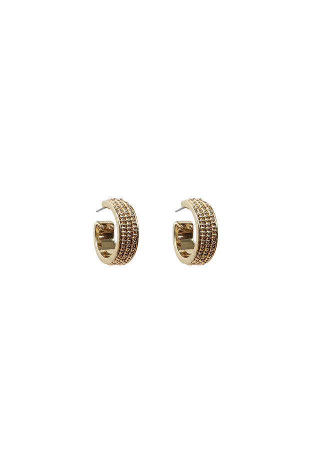 WYNNIE BEADED HOOP EARRING- GOLD