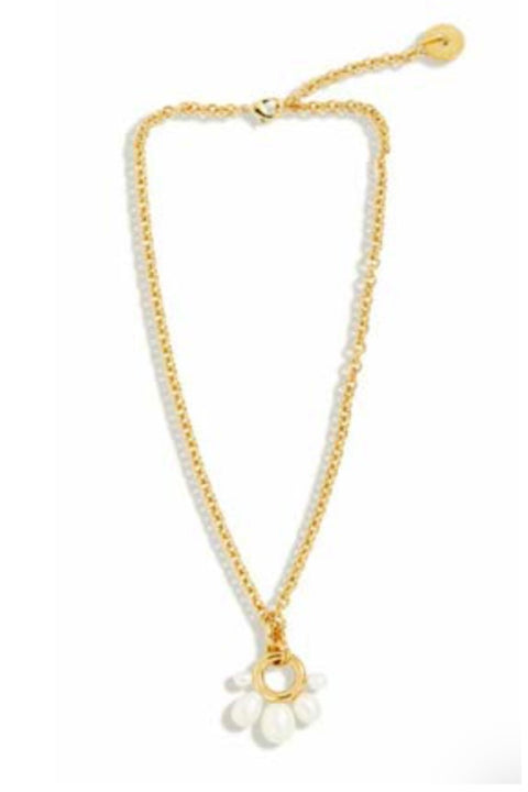 MARGOT PEARL NECKLACE- WHITE/GOLD