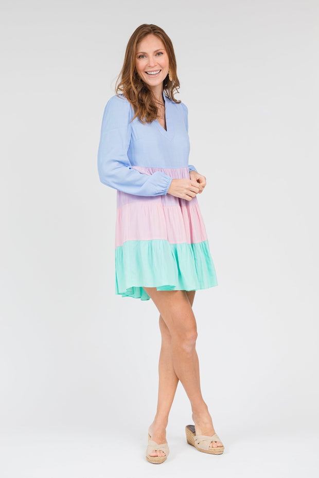 CHARLOTTE COLOR BLOCKED DRESS