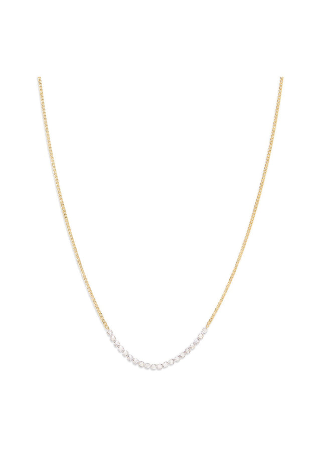WILDER SHIMMER DELICATE NECKLACE- GLD/CRYSTAL