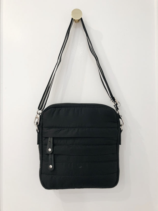 SHINY NYLON IPAD CROSSBODY