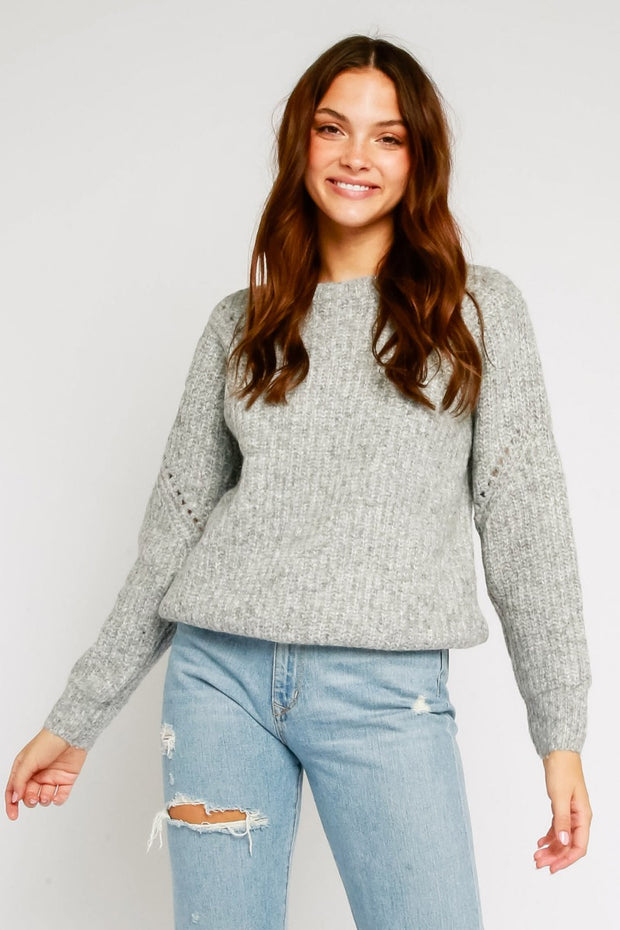 COZY SWEATER W/CUT OUT DETAILS