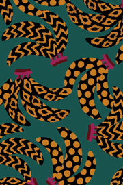 TEAL ETHNIC BANANAS SHIRT