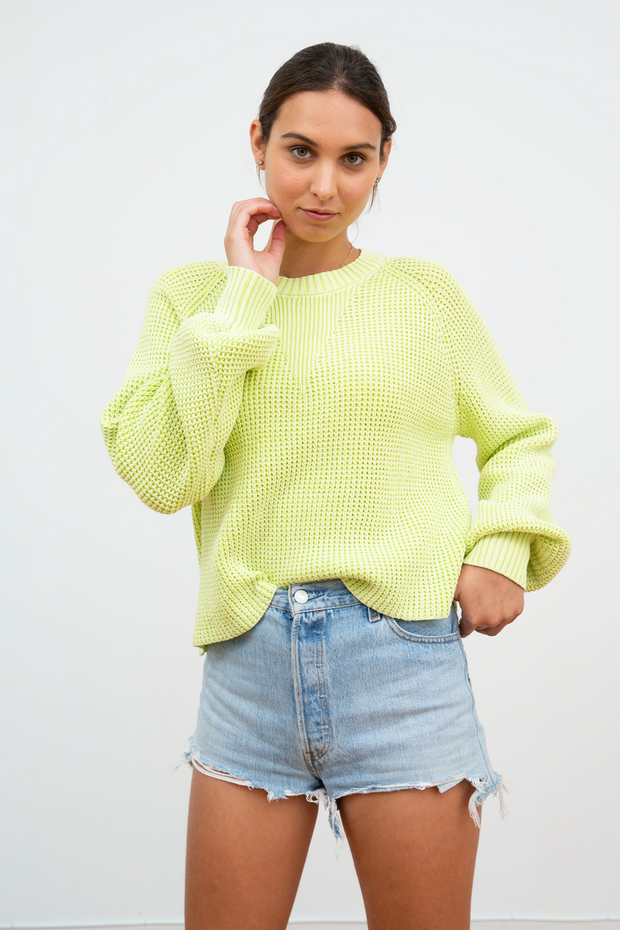 NYSSA WAFFLE STITCH PULLOVER
