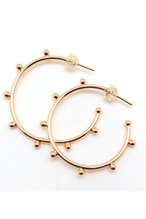 GOLD FILLED BALL HOOPS