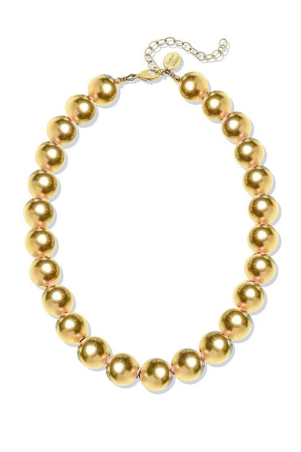 MARGARET BEADED NECKLACE- GOLD