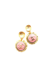 DESIGNER DROP EARRINGS - PINK