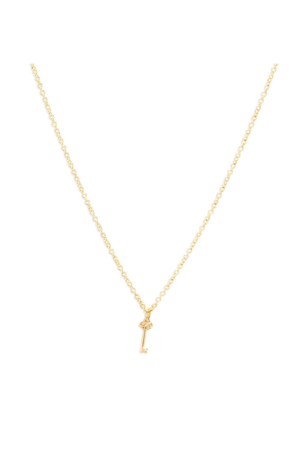 KEY CHARM NECKLACE- GOLD