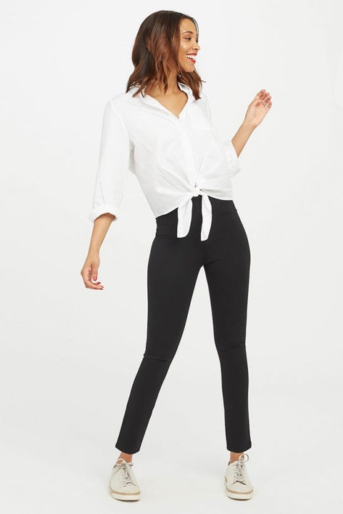 4 POCKET PONTE SKINNY PANTS