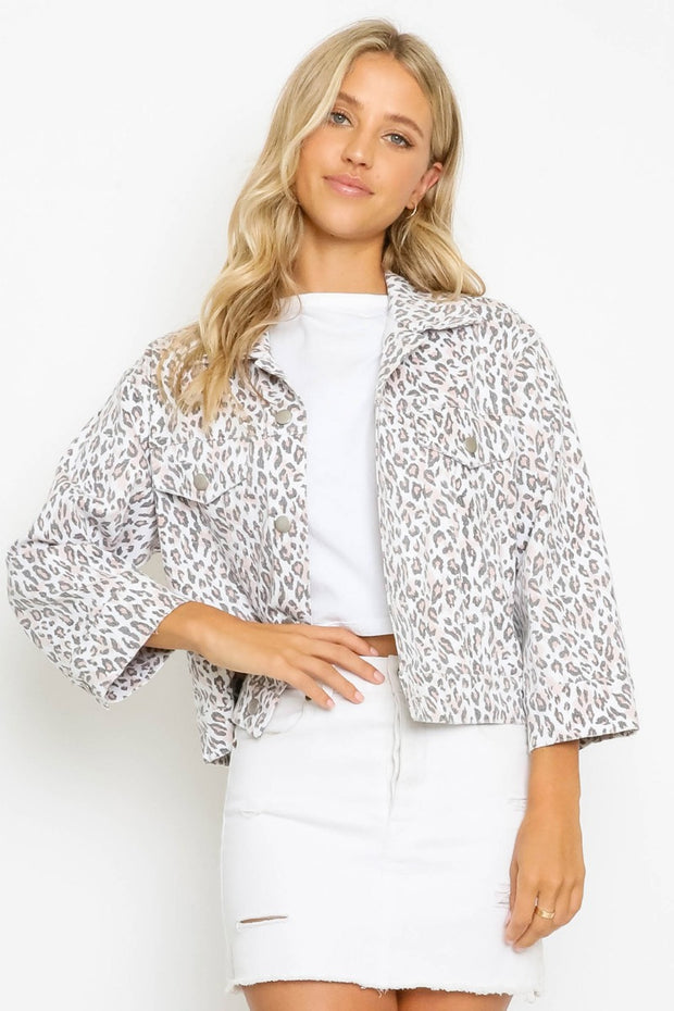 DISTRESSED LEOPARD JACKET