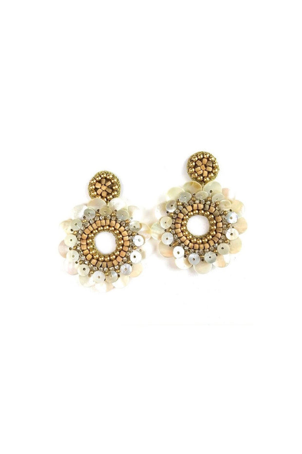 ERICA EARRINGS- IVORY/GLD