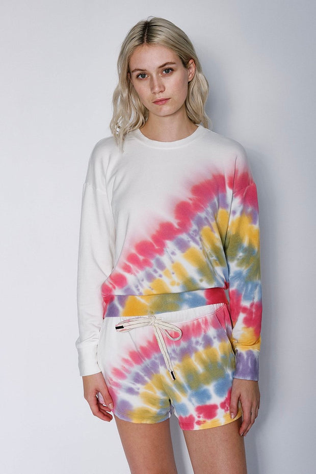 TIE DYE FLEECE SHORT