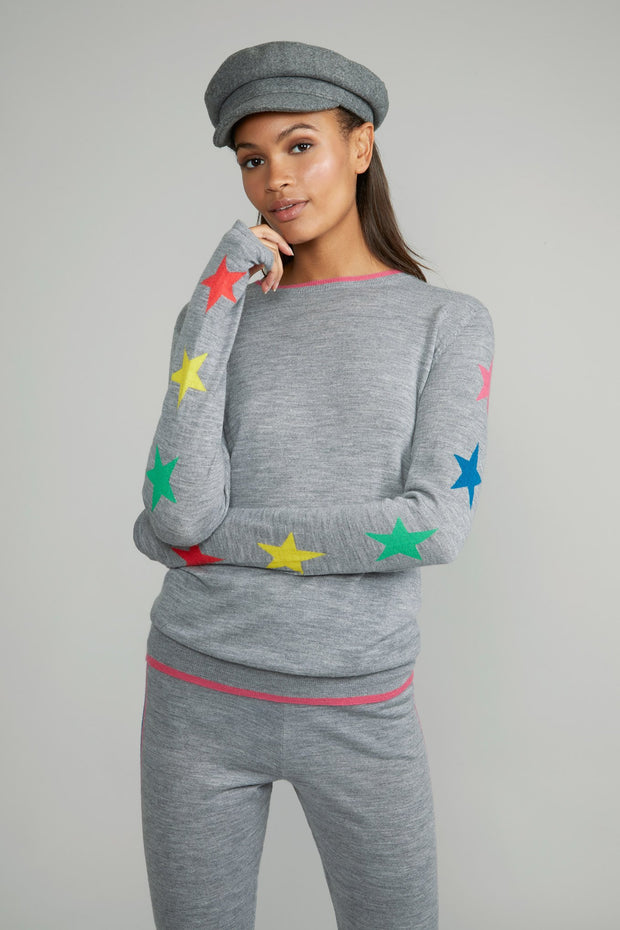 LUCA MERINO STAR SWEATER