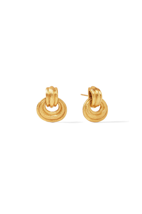 BARCELONA DOORKNOCKER EARRING- GOLD