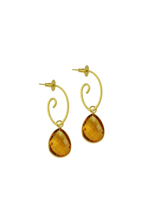 ALEGRA DROP STONE EARRING