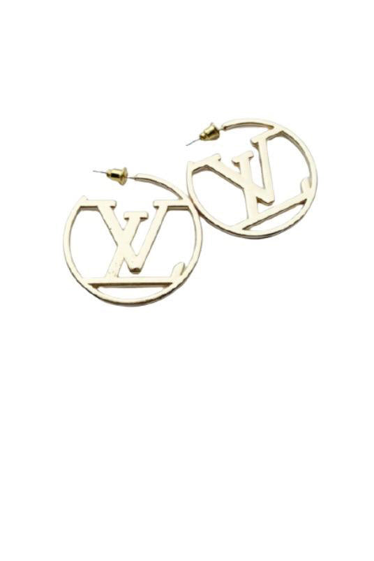 LV HOOP EARRINGS- GOLD