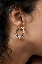 ODYSSEY EARRINGS- CRYSTAL/GOLD