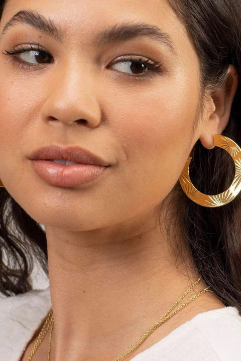 AZUL HOOPS- GOLD