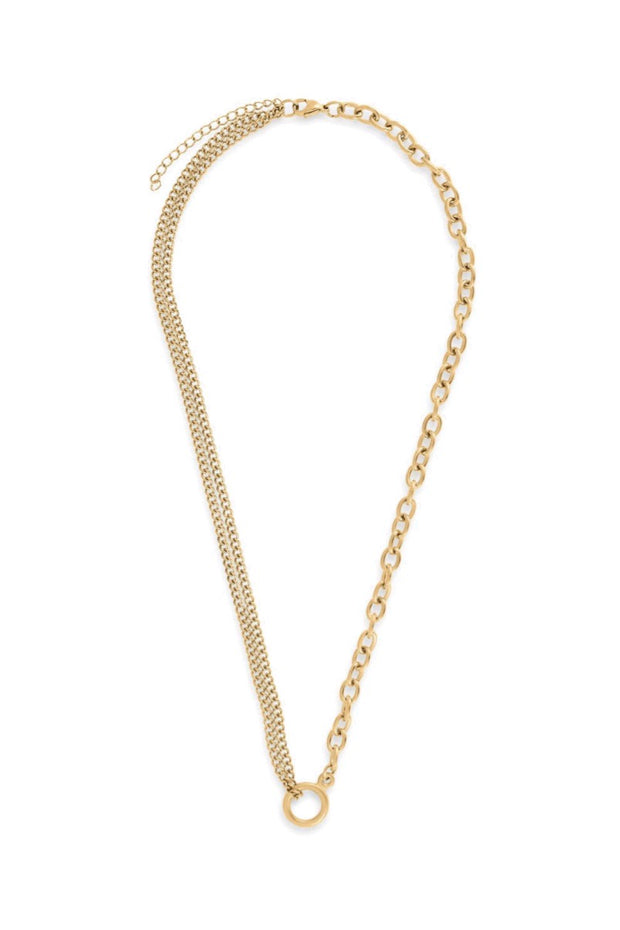 JASPER MULTI CHAIN NECKLACE- GOLD