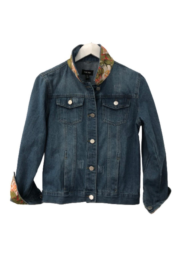 GG COLLAR & CUFF DENIM JACKET