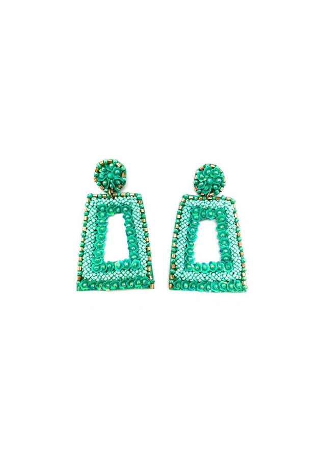 PATTIE EARRINGS- AQUA
