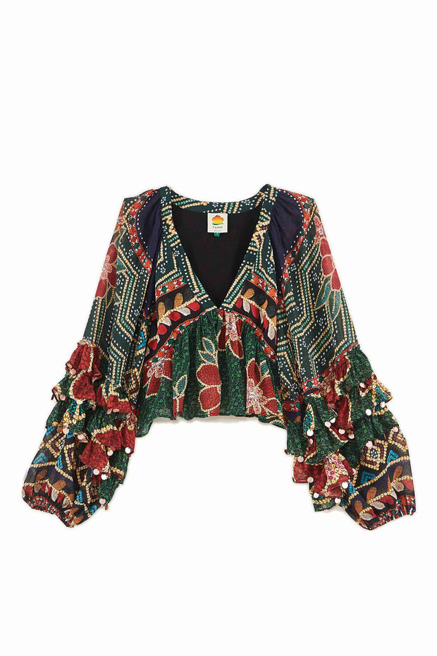 FLORAL SHINE BLOUSE