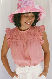 LILY TENCEL SMOCKED YOKE TOP