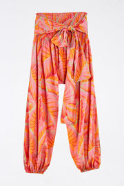 BRIGHT FOREST SMOCKED WAIST PANTS