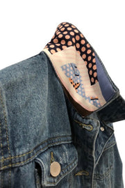LV COLLAR & CUFF DENIM JACKET