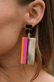MIAMI BEACH HORN CABANA EARRINGS