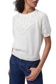KARLA KNITTED SHORT SLV TOP