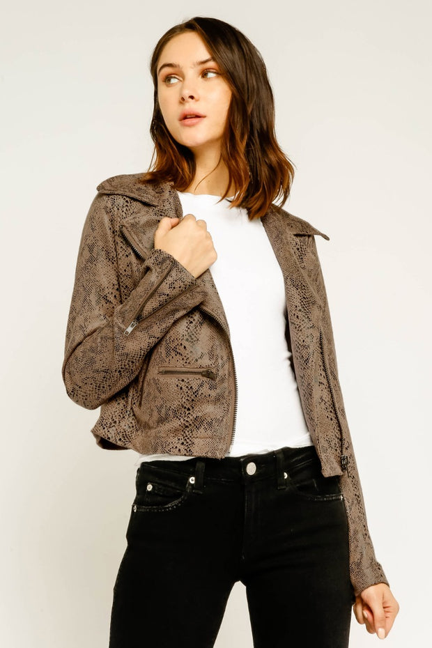 SNAKE LEATHER JACKET
