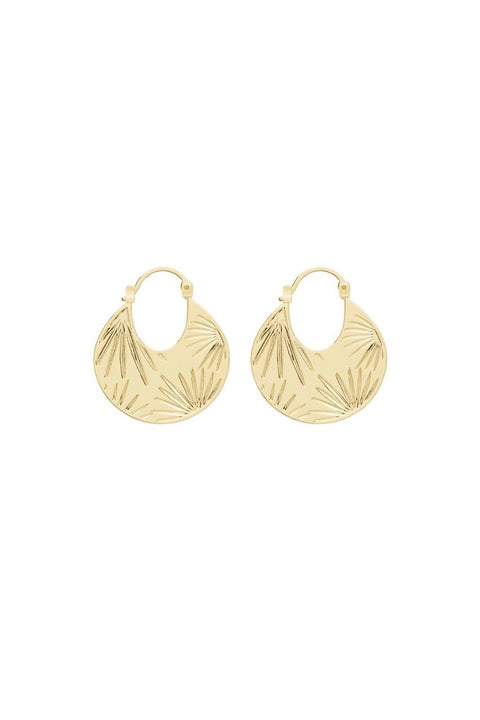 AZUL PROFILE HOOPS- GOLD