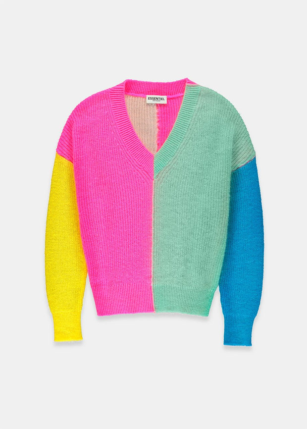 VIVAR COLOR BLOCK SWEATER