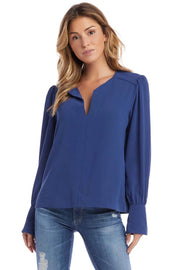 SHIRRED SPLIT PLACKET TOP