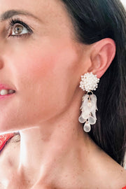 LAYLA DROP EARRINGS - WHITE