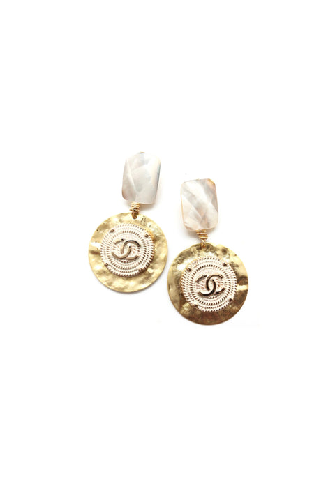 DESIGNER PEARL DROP EARRINGS - WHITE