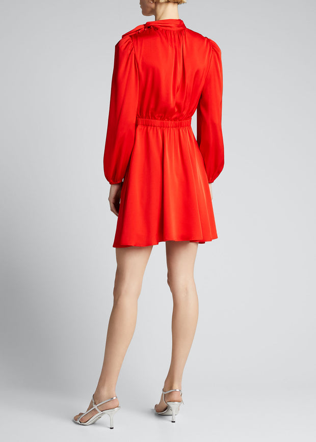 STRETCH SILK ADELE DRESS