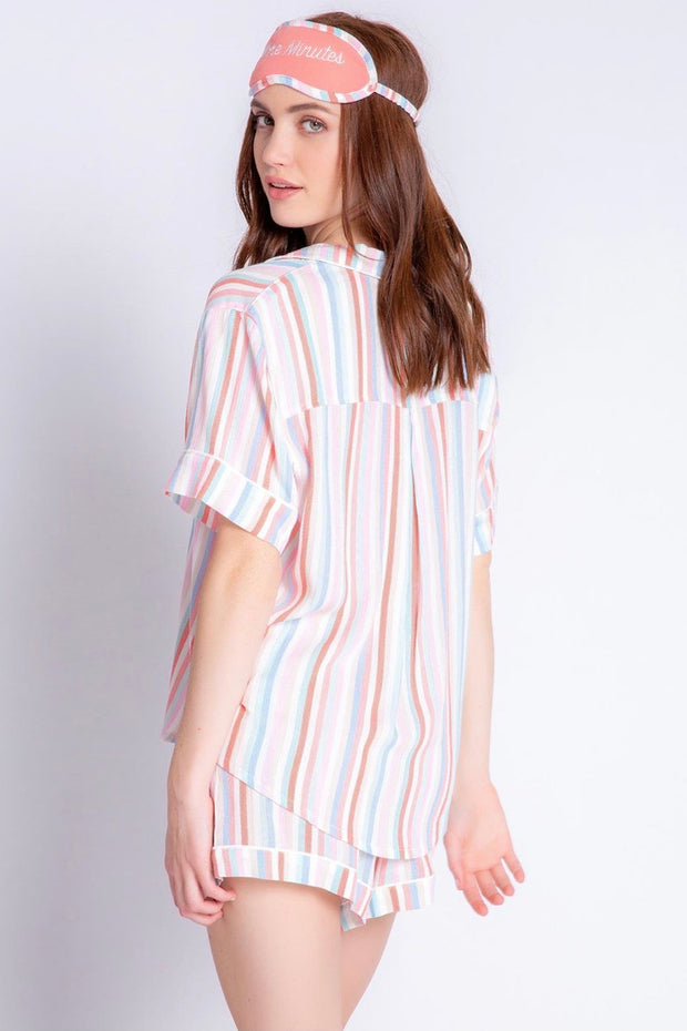 SAT MORNING STRIPE PJ SET
