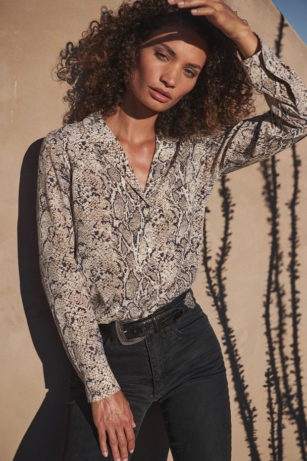 REBEL BLOUSE SNAKESKIN