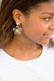 SISSY EARRINGS- CLEAR/GOLD